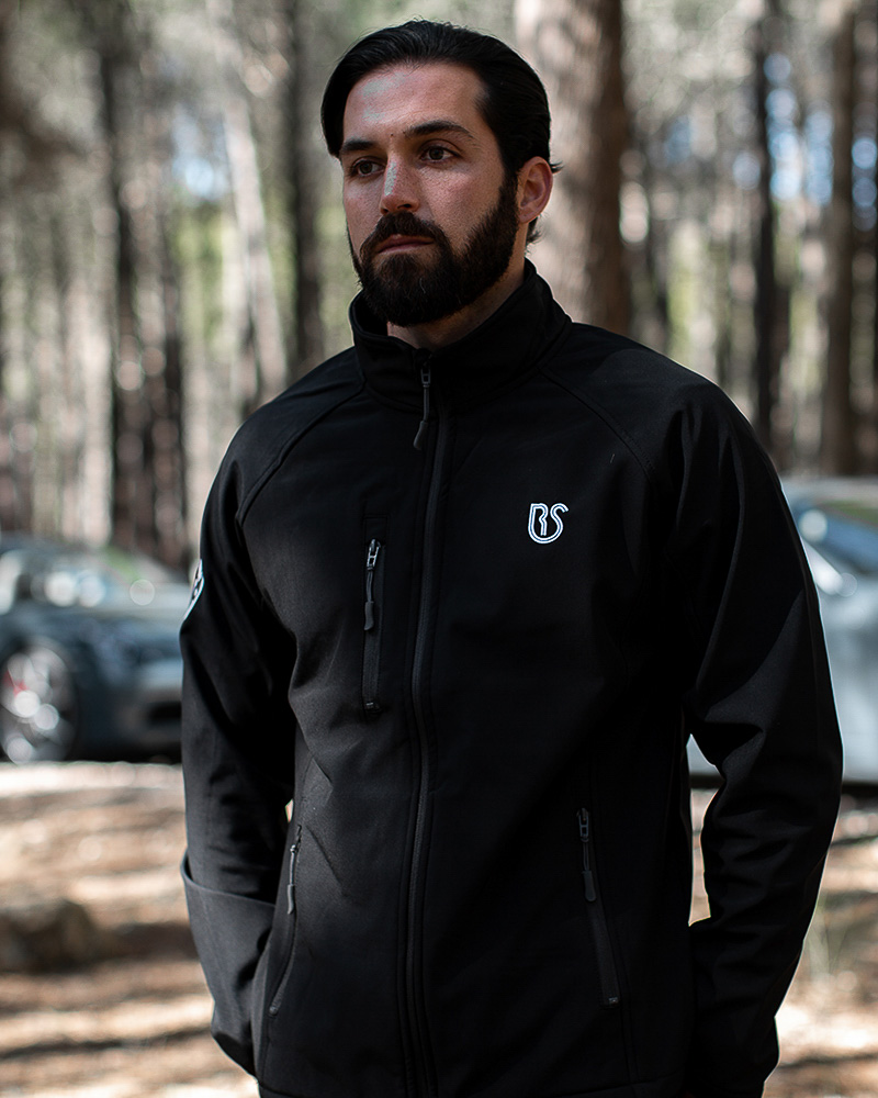 jacket black man front